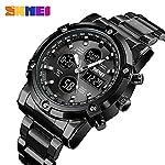 51Yu2bwiCQL. SS150  - Skmei Mens Watches Top Brand Luxury Quartz Analog LED Digital Analog Watch Men (All Black)