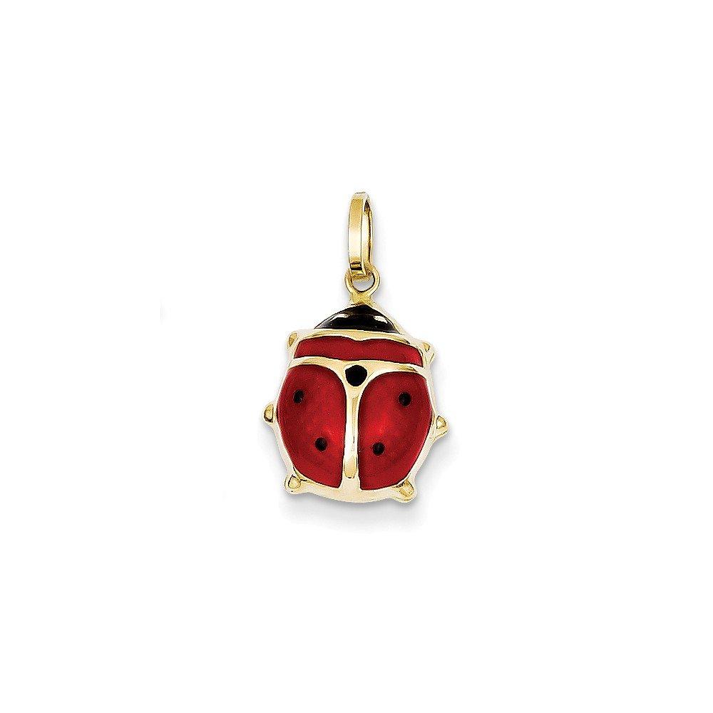 14k Enameled Ladybug Charm