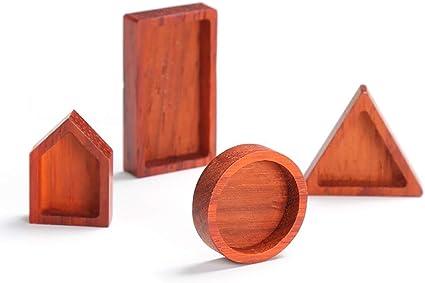 AHMI 4 piezas de artesanías de madera de resina epoxi ...