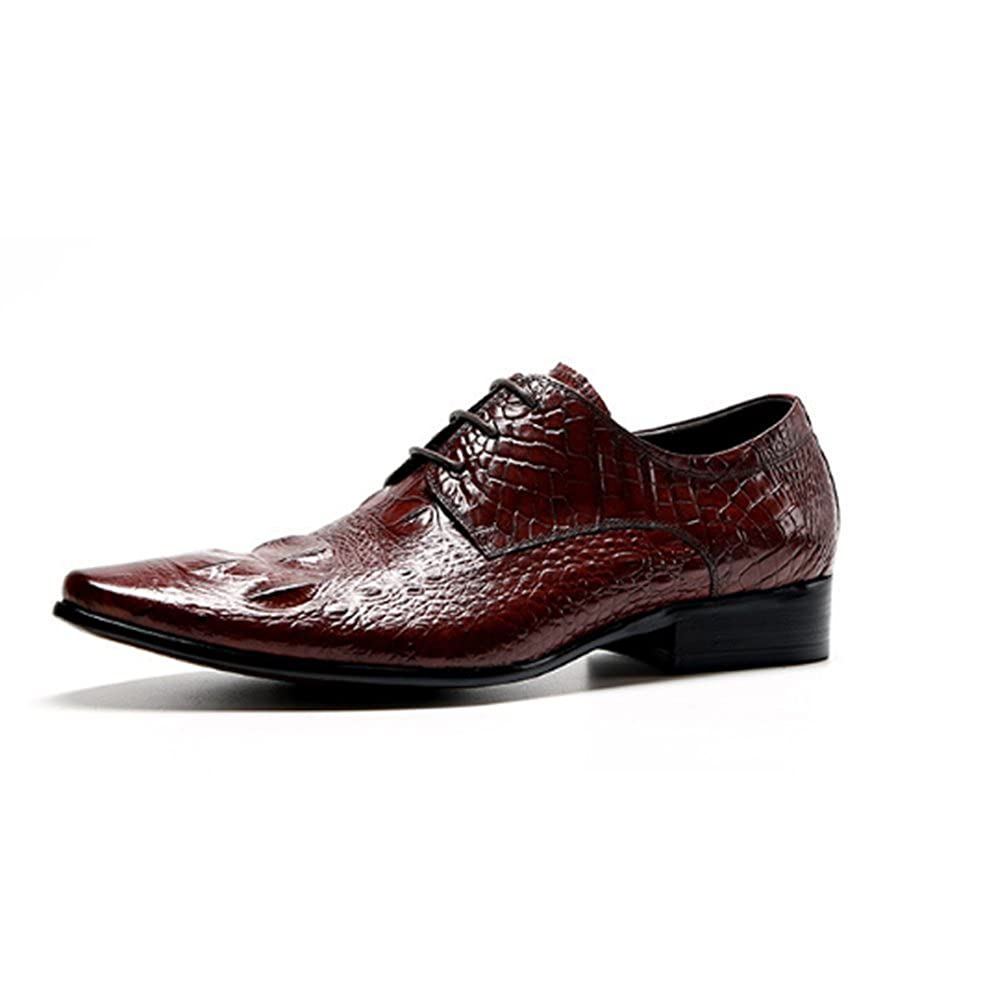 NIUMJ Herren Herbst Und Winter Geschäft Schuhe Männer Lässig Atmungsaktiv Schnürschuhe