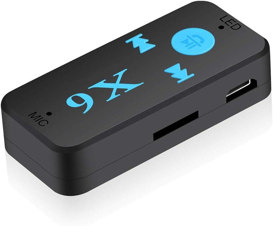 X6 Wireless Bluetooth USB Receiver 3.5mm Audio Jack TF Card For Car Speaker Fast