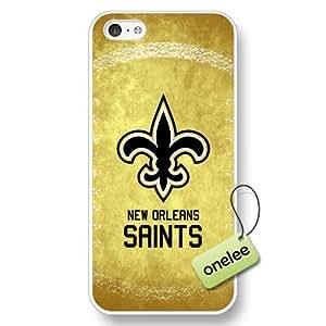 NFL New Orleans Saints Team Logo iPhone 5c White Hard Plastic Case Cover - White