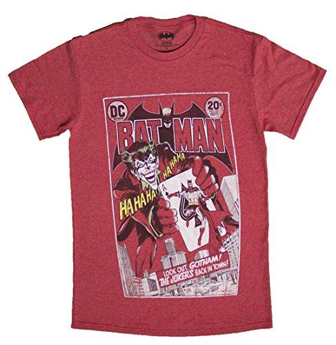 Men's DC Comics Distressed Joker's Back Comic Book Cover T-Shirt (Large) -