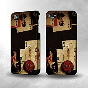 Apple iPhone 4 / 4S Case - The Best 3D Full Wrap iPhone Case - Old Vintage Sexy Poker