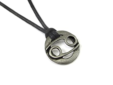 Amazon cancer the crab zodiac pewter pendant on adjustable cancer the crab zodiac pewter pendant on adjustable cord necklace aloadofball Image collections