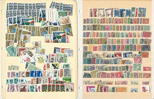 Worldwide Stamp Collection on 10 Stock Pages, Unsorted Loaded Lot (D)