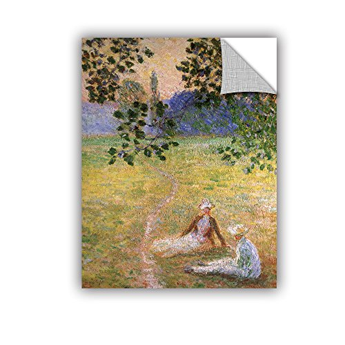 ArtWall Claude Monet's Eve in The Meadow of Giverny Art Appeelz Removable Graphic Wall Art, 24 by 32