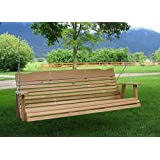 5' Natural Cedar Porch Swing, Amish Crafted - Includes Chain & Springs