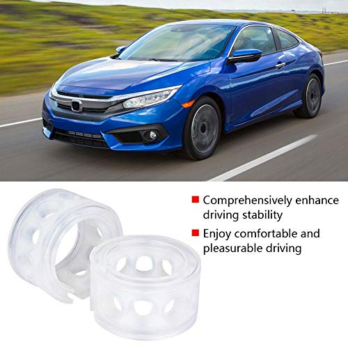 Car Shock Absorber, 2pc Transparent Car Shock Absorber Retainer TPE Spring Buffer Power Cushion Type A-F(A)