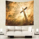 Dodoer Home Decorative Wall Hanging Carpet Tapestry 130X150cm Rectangle Bedspread Christian Jesus Religion People Pattern