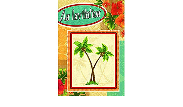 Spring Party Palm Fronds Party Invitation Garden Party Summer Breeze Summer Soiree Celebration Sunny Weather Palm Leaf Shadow Soiree