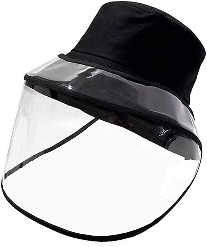 BRIGHTLYF Hat with Removable Face Shield Protection Black