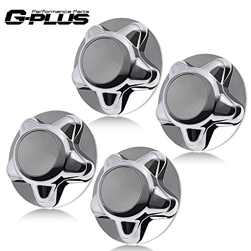 4pc Chrome Wheel Hub Center Caps Cover Replacement With 7