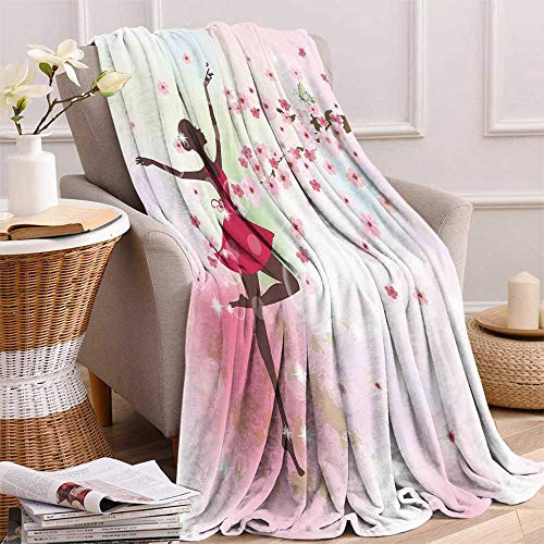 Kids Room Weave Pattern Extra Long Blanket Ballet