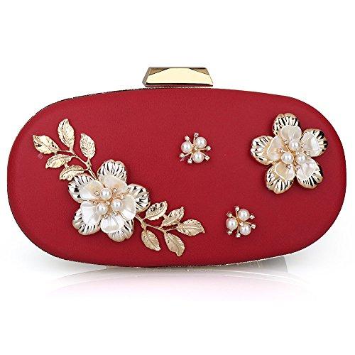 SSMK red femme Pochette Bag pour Evening 0XqnrZw0