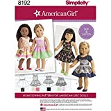 Simplicity 8192 American Girl Doll Clothes 18'' Doll, OS (ONE Size)