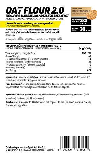 Harina de Avena de Sabor de HSN Foods - Sin soja, Vegana - Instantánea Ideal para Batidos, Tortitas de Avena y Claras, Recetas Fitness - En Polvo - ...