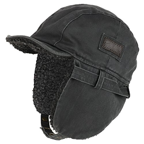 Armycrew Rugged Distressed Sherpa Lined Aviator Pilot Cap - Oil