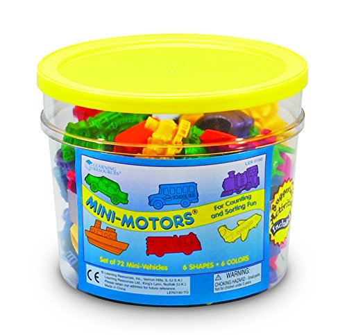Learning Resources LER0190 Minimotors Counters (72-Pieces)