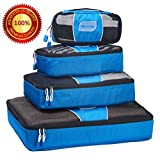 GE MARK - Travel Packing Cubes - Premium Quality Waterproof Material - Best Bag Organizer for your Luggage - 4 Set