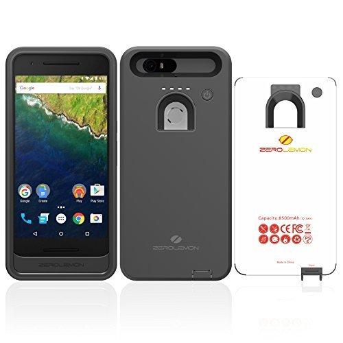 Nexus 6P Battery Case, ZeroLemon Google Huawei Nexus 6P 8500mah Rugged Battery Case - Black (Version 2.0)