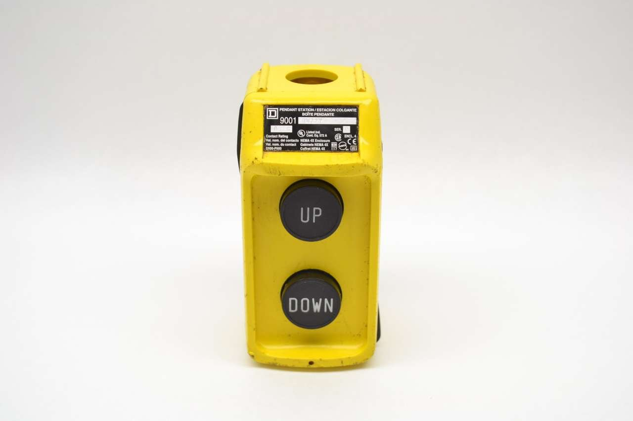 SQUARE D 9001-BW72Y PENDANT CONTROL STATION YELLOW SER C PUSHBUTTON B462832