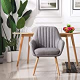 Homy Grigio Dining Chairs Living Room Chairs Accent Chair Mid-Century Modern Upholstered Fabric (Grey)
