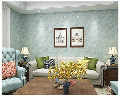 Non-Woven Wallpaper Oval Pattern Retro Light Blue Wallpaper Modern Fashion Art for Living Room Bathroom Kitchen Home Decor