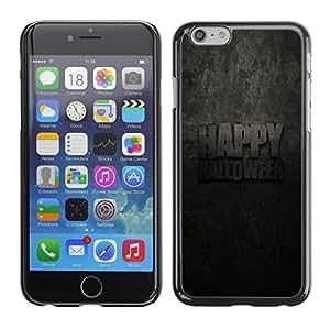 A-type Arte & diseño plástico duro Fundas Cover Cubre Hard Case Cover para Apple (4.7 inches!!!) iPhone 6 / 6S (Halloween Happy)