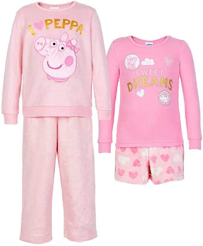 Kids Character Peppa Pig Girls Pyjama Set High Quality Sleepwear
