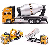 New Children Model Pullback Digger Excavator Construction Vehicle Trucks Vans Toy By KTOY