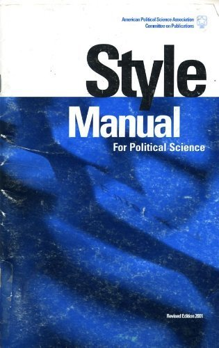 Style Manual for Political Science (Revised Ed.)
