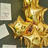 Party Propz 18 inch Golden Star Foil Balloons for Birthday   Anniversary   Wedding Party Decoration Pack of 5 (Gold)