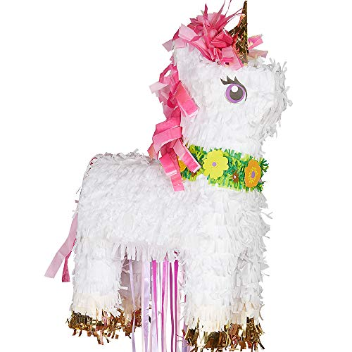 Amscan P19733 Magical Unicorn Pull Pinata, Assorted Colors]()