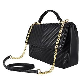 c8597fde1b0 CRAZYCHIC - Women's Crossbody Bag Top-Handle - Satchel V Form ...