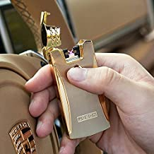 Jobon Double Arc One Second Fast Cigarette Lighter ZB-868 (Gold) USB Rechargeable Windproof Flameless with Cleaning Brush and Gift Box by Jobon