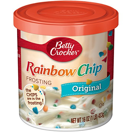 Cupcake Frosting - Betty Crocker Frosting, Rich & Creamy Gluten Free Frosting, Original Rainbow Chip, 16 Oz Canister