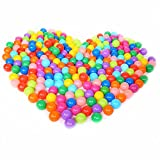 Pit Balls,Colorful Fun Phthalate Free BPA Free Crush Proof Balls Toy for Toddlers and Kids,Soft Plastic Air-Filled Ocean Ball Palyballs for Baby Child Tent Swim Toys (50pcs/pack)