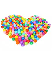 Pit BallsColorful Fun Phthalate Free BPA Free Crush Proof Balls Toy for Toddlers and KidsSoft Plastic AirFilled Ocean Ball Palyballs