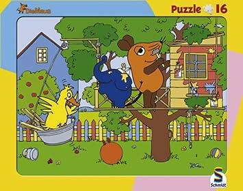 """2 Puzzle """"Die Maus"""" 16 und 24 teilig von Schmidt Spiele ab"""