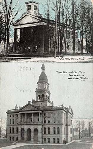 (The Old and New Court House, Hillsdale, Michigan Antique Postcard T1727)