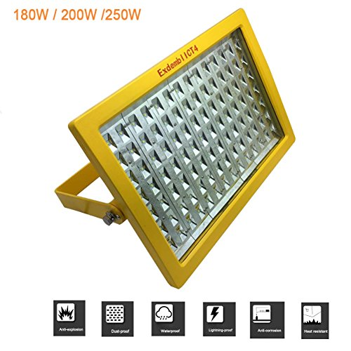 Anti-corrosion LED Flood light explosion-proof led light,led explosion proof ligth with IP66 Waterproof, Exdemb II CT4 and WF2, used in Powder factory gas station warehouse, Paint Spray Booth Approved