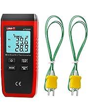 UT320D Mini kontakttyp digital termometer dubbelkanal K/J termoelement temperaturmätare med LCD-bakgrundsbelysning