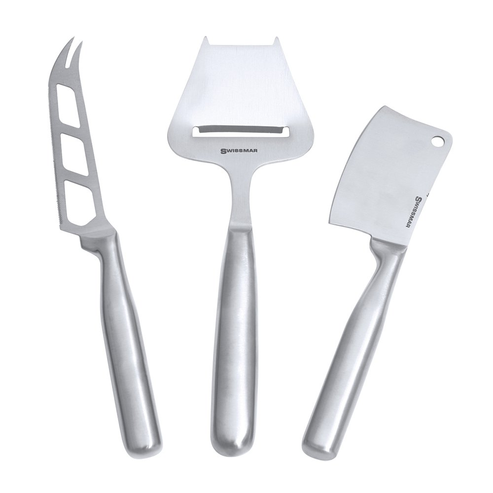 Swissmar Stainless Steel 3-Piece Cheese Knife Set