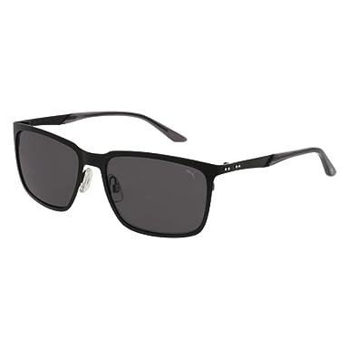 Amazon.com: Gafas de sol Puma PU 0091 S- 001 negro/gris ...