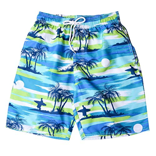 Simayixx Men Shorts, Beach Hawaii Swimming Pants Gym Sports Jogging Elastic Waist Drawstring Running ()