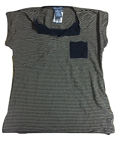 Chelsea & Theodore Womens Pocket Stripe Top T-Shirt XX-Large (The Chelsea Knit Top)