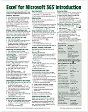 Microsoft Excel 365 Introduction Quick Reference Guide - Windows Version (Cheat Sheet of Instructions, Tips & Shortcuts - Laminated Card)