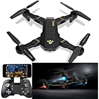 Gotd Wifi Quadcopter 120° FOV Angle 2MP HD Camera Foldable 2.4G 6-Axis (black)