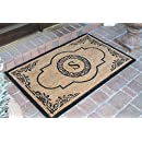"""A1 Home Collections PT4007S First Impression Hand Crafted Abrilina Entry Monogrammed Doormat, Double, 30"""" L x 48"""" W"""